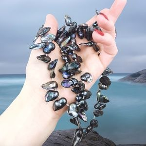 Jewelry - Wild Black Baroque Freshwater Pearl Necklace